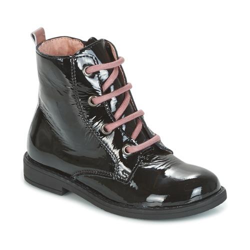 Shoes Children Mid boots Citrouille et Compagnie HEMANU Black / Pink