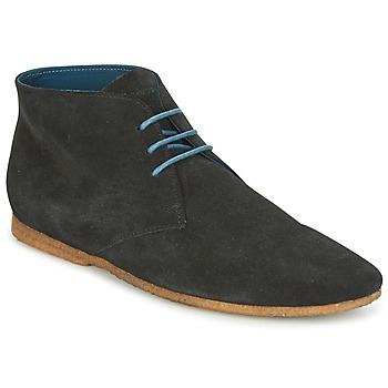 Shoes Men Mid boots Schmoove CREPS DESERT Black