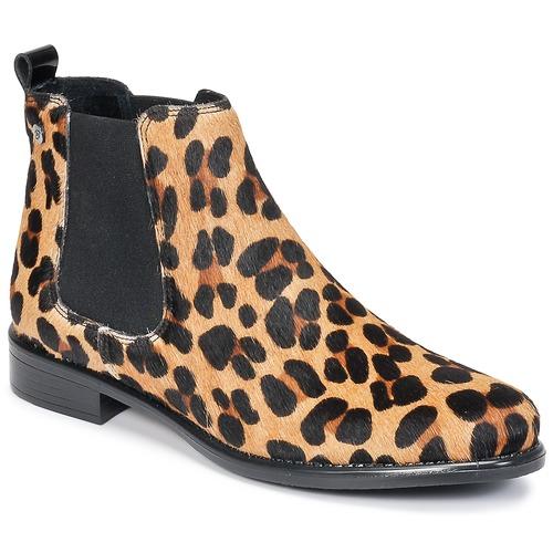 Shoes Women Mid boots Betty London HUGUETTE Leopard