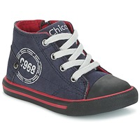 Shoes Boy High top trainers Chicco CRITTER Marine / Black / Red
