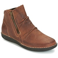 Shoes Women Mid boots Casual Attitude HERMINA Brown