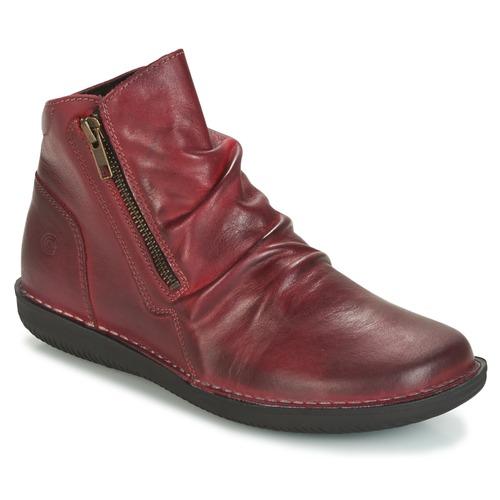 Shoes Women Mid boots Casual Attitude HERMINA Bordeaux