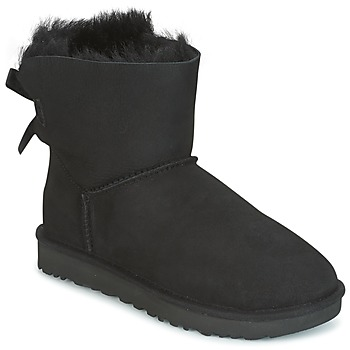 Shoes Women Mid boots UGG MINI BAILEY BOW II Black