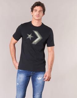 material Men short-sleeved t-shirts Converse DIMENSIONAL LAYER STAR CHEVRON TEE Black