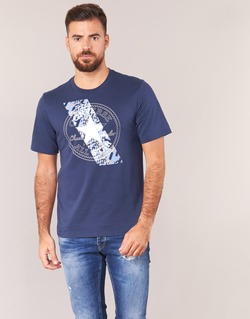 material Men short-sleeved t-shirts Converse CHUCKPATCH CONTRAST SLASH TEE Marine
