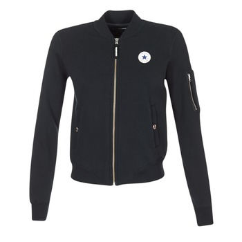 material Women Jackets / Blazers Converse CORE MA-1 BOMBER Black