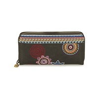 Bags Women Wallets Desigual MONE_FIONA AMBER Black / Multicoloured