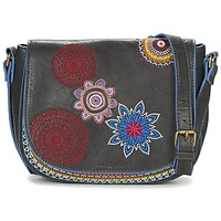 Bags Women Shoulder bags Desigual BOLS_VARSOVIA AMBER Black / Multicoloured
