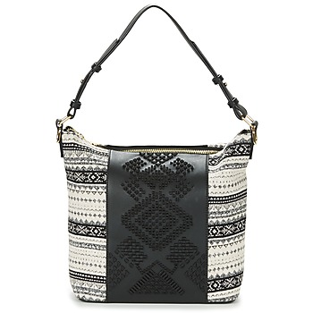 Bags Women Shoulder bags Desigual BOLS_LILA ASTÚN Black / Cream