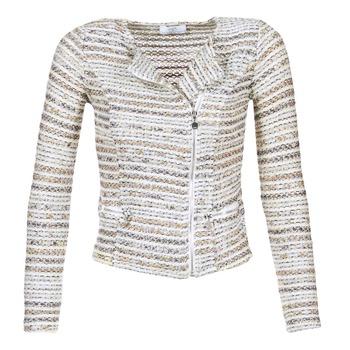 material Women Jackets / Blazers Le Temps des Cerises MIRABEAU Beige / White