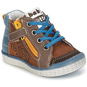 Shoes Boy High top trainers Babybotte AKRO Brown / Blue