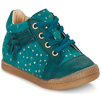 Shoes Girl High top trainers Babybotte FALSIFI Turquoise / Gold