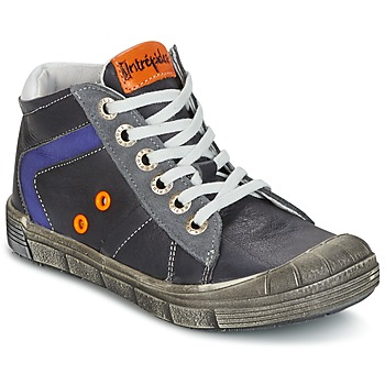 Shoes Boy High top trainers Babybotte KANADA Grey / Dark