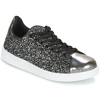 Shoes Women Low top trainers Yurban HELVINE Grey / Glitter