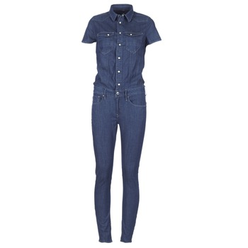material Women Jumpsuits / Dungarees G-Star Raw TACOMA SLIM JUMPSUIT WMN SS DK / Aged
