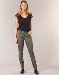 material Women Skinny jeans G-Star Raw 5620 STAQ 3D MID SKINNY COJ WMN Kaki