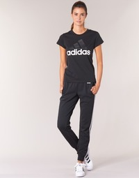 material Women Tracksuit bottoms Adidas Performance PAP ESS 3S PANT CH Black