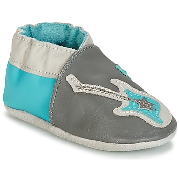 Shoes Boy Baby slippers Robeez SUPERSTAR ROCK Blue / Grey