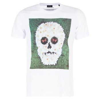 material Men short-sleeved t-shirts Diesel JOE QM White