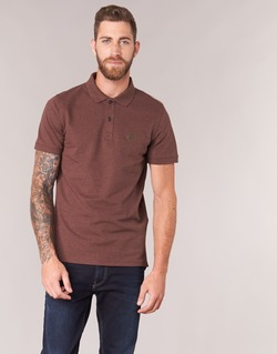 material Men short-sleeved polo shirts Selected ARO Bordeaux