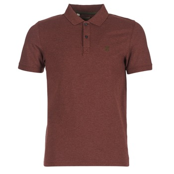 material Men short-sleeved polo shirts Selected ARO BORDEAUX