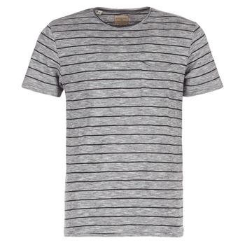 material Men short-sleeved t-shirts Selected FINN Grey / Black