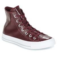 Shoes Women High top trainers Converse CHUCK TAYLOR ALL STAR CRINKLED PATENT LEATHER HI DARK SANGRIA/DA Red wine