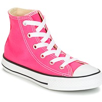 Shoes Girl High top trainers Converse CHUCK TAYLOR ALL STAR SEASONAL HI PINK POW Pink
