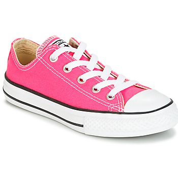 Shoes Girl Low top trainers Converse CHUCK TAYLOR ALL STAR SEASONAL OX PINK POW Pink