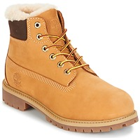 Shoes Children Mid boots Timberland 6 IN PRMWPSHEARLING LINED Camel