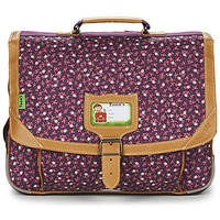 Bags Girl Satchels Tann's EXCLU CHERRY CARTABLE 38CM Grey / Pink