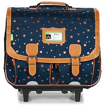 Bags Girl Rucksacks / Trolley bags Tann's EXCLU ETOILE MARINE TROLLEY CARTABLE 41CM Marine