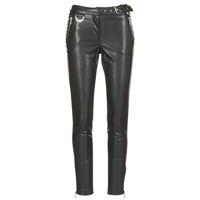 material Women 5-pocket trousers Morgan PEANUT Black