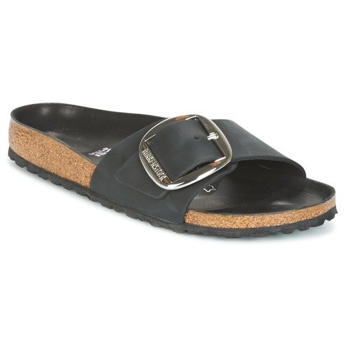 Shoes Women Mules Birkenstock MADRID BIG BUCKLE Black / Matt