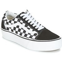 Shoes Women Low top trainers Vans UA OLD SKOOL PLATFORM Black / White