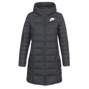 material Women Duffel coats Nike DOWN FILL PARKA Black / White
