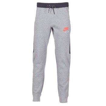 material Men Tracksuit bottoms Nike AIR JOGGER FLEECE Grey / Red