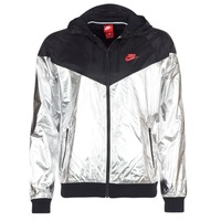 material Men Macs Nike WINDRUNNER METALLIC Black / Silver