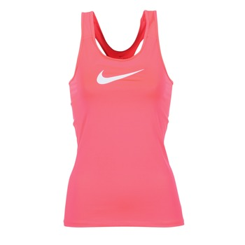 material Women Tops / Sleeveless T-shirts Nike NIKE PRO COOL TANK Pink / White