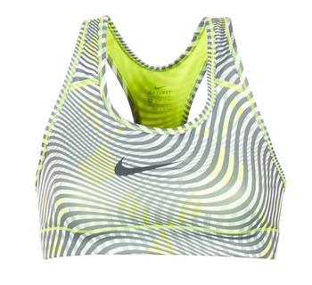 material Women Sport bras Nike NIKE PRO CLASSIC BRA Yellow / Grey