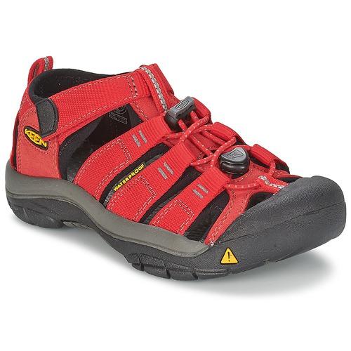 Shoes Children Sports sandals Keen KIDS NEWPORT H2 Red / Grey
