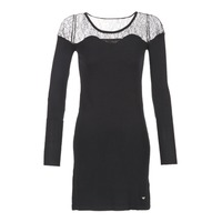 material Women Short Dresses LPB Woman DARTO Black