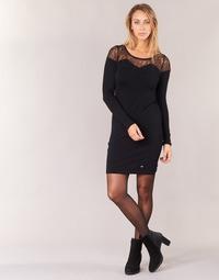 material Women Short Dresses LPB Woman DARTO Black