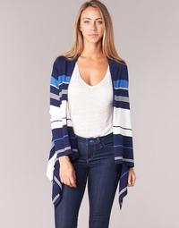 material Women Jackets / Cardigans Casual Attitude IHARINE Marine / White