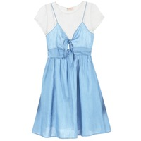material Women Short Dresses Moony Mood GLAM Blue