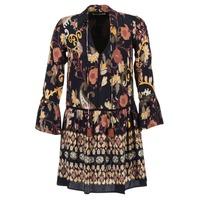 material Women Short Dresses Derhy DEGUSTATION Black / Multicoloured