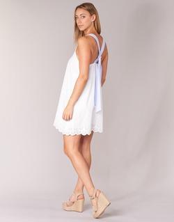 material Women Short Dresses Betty London GRAMA Ecru
