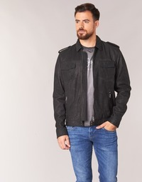 material Men Leather jackets / Imitation le Pepe jeans NARCISO Black