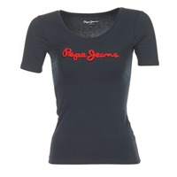 material Women short-sleeved t-shirts Pepe jeans MARIA Black