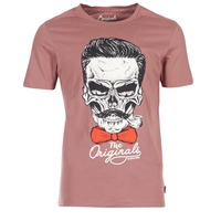 material Men short-sleeved t-shirts Jack & Jones CRIPTIC ORIGINALS Pink